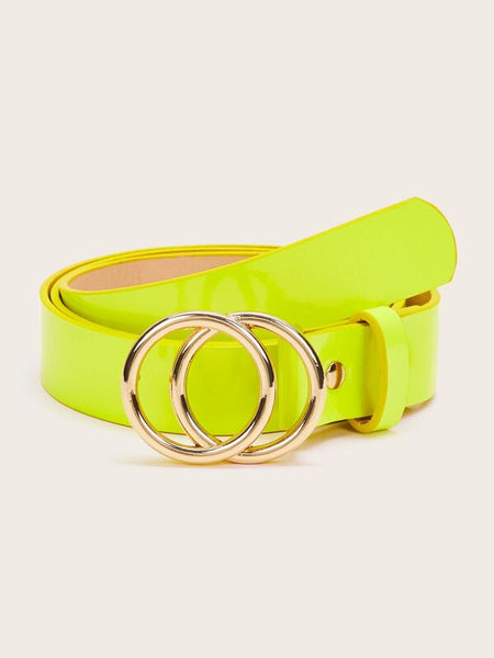Double O-ring Neon Yellow Belt