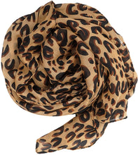 Load image into Gallery viewer, Women's Lightweight Leopard Print Scarf