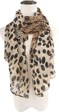 Load image into Gallery viewer, Women's Lightweight Animal Print Scarf