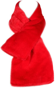 Faux Fur Warm Soft Furry Wrap Around Loophole Scarf
