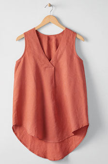 Sleevless Cotton- Linen blend Women Tank