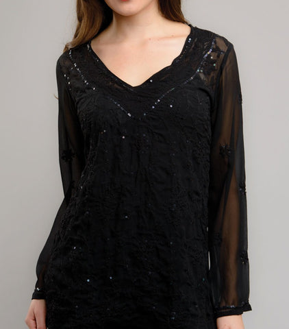 Black Tunic Sheer