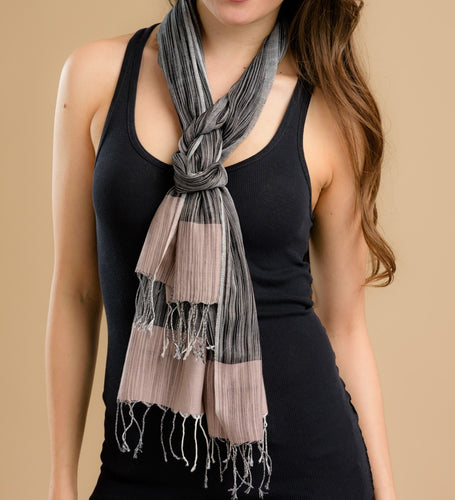Cotton Handwoven  Scarf