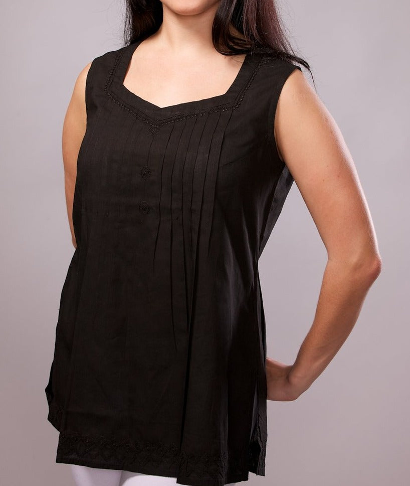 Black Tunic Sleeveless Top
