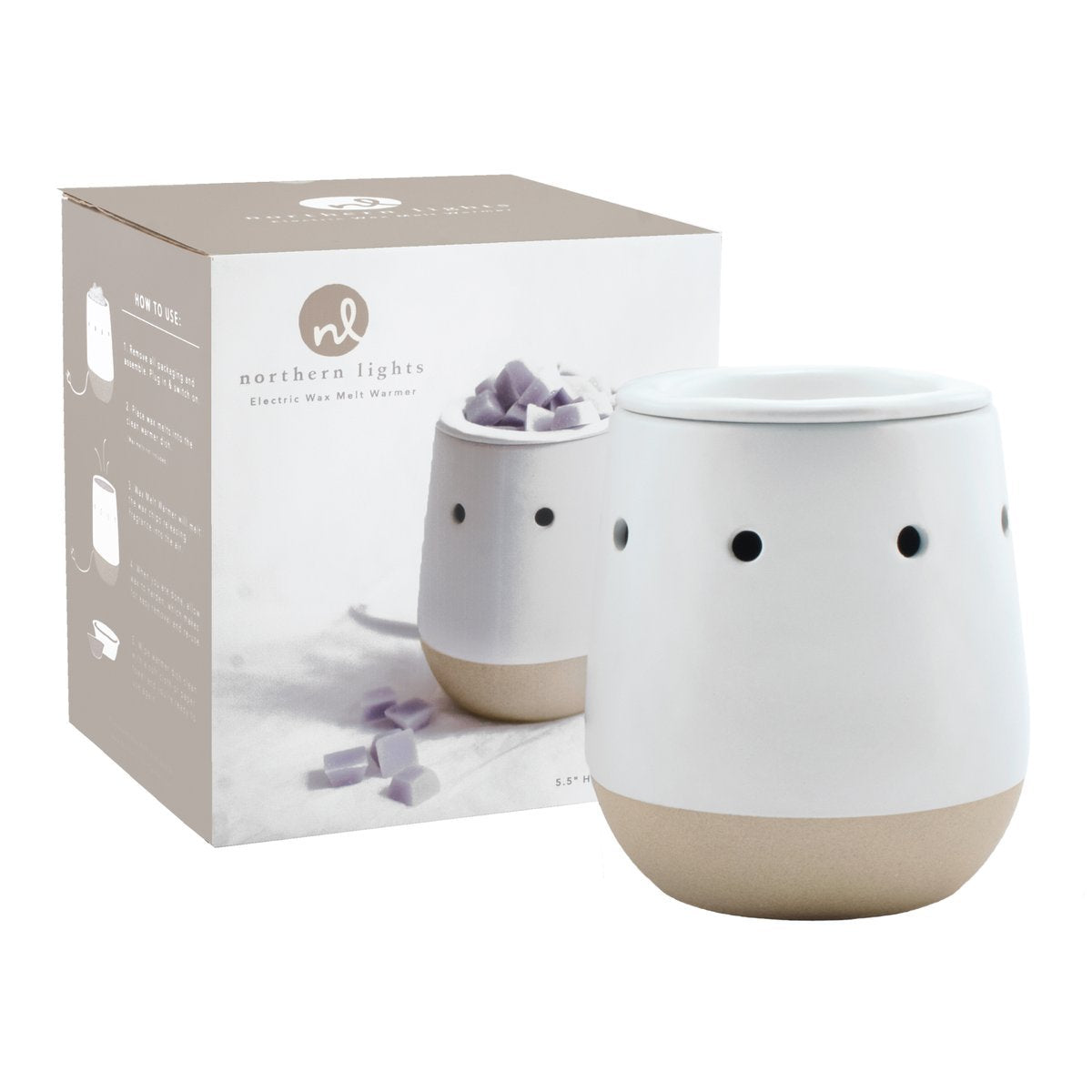Wax - Electric Wax Melt Warmer - White Matte