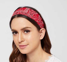 Load image into Gallery viewer, Cotton Paisley Print Headband