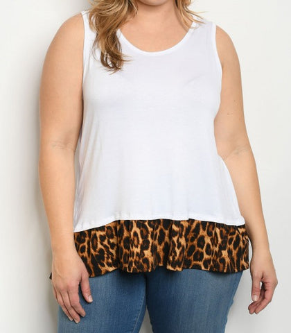 Sleeveless Top Plus Size