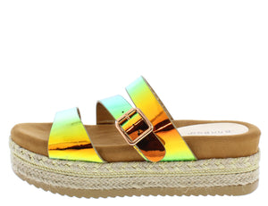 Platform Espadrille Wedge Open Toe