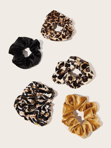 Velvet Scrunchies 5pcs set