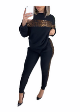 Load image into Gallery viewer, Cheetah Print Top & High Waist Pants Set