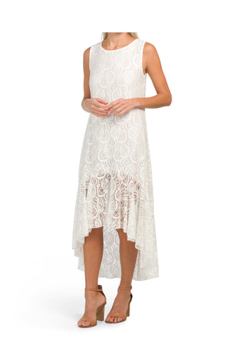All Over Lace Hi Low Dress