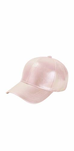 Baseball Cap Hat Pink Hat PU leather hat