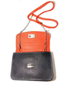 Colorblock Flap Crossbody Bag