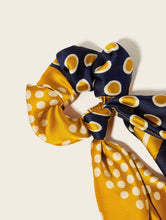 Load image into Gallery viewer, Polka Dot Floral Scrunchie Scarf