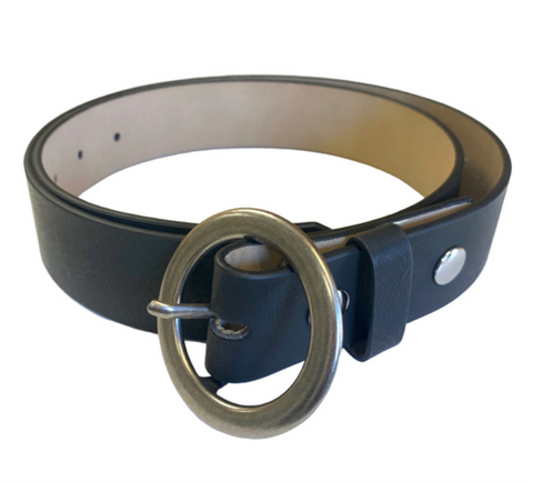 BRUSHED METAL BUCKLE BELTS