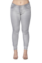 Load image into Gallery viewer, Womens Basic Grey Jeans Plus Sizes