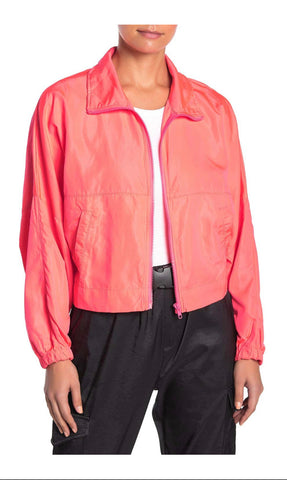 Neon Cropped Windbreaker