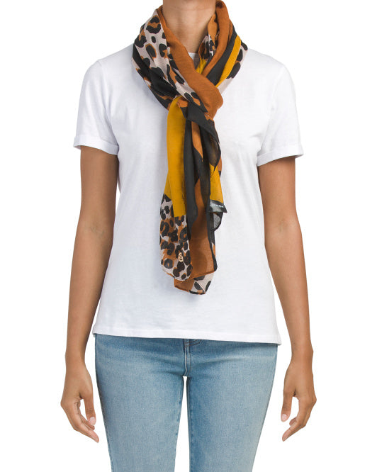 Lightweight Scarf Fashion Leopard Print Scarves Fashion