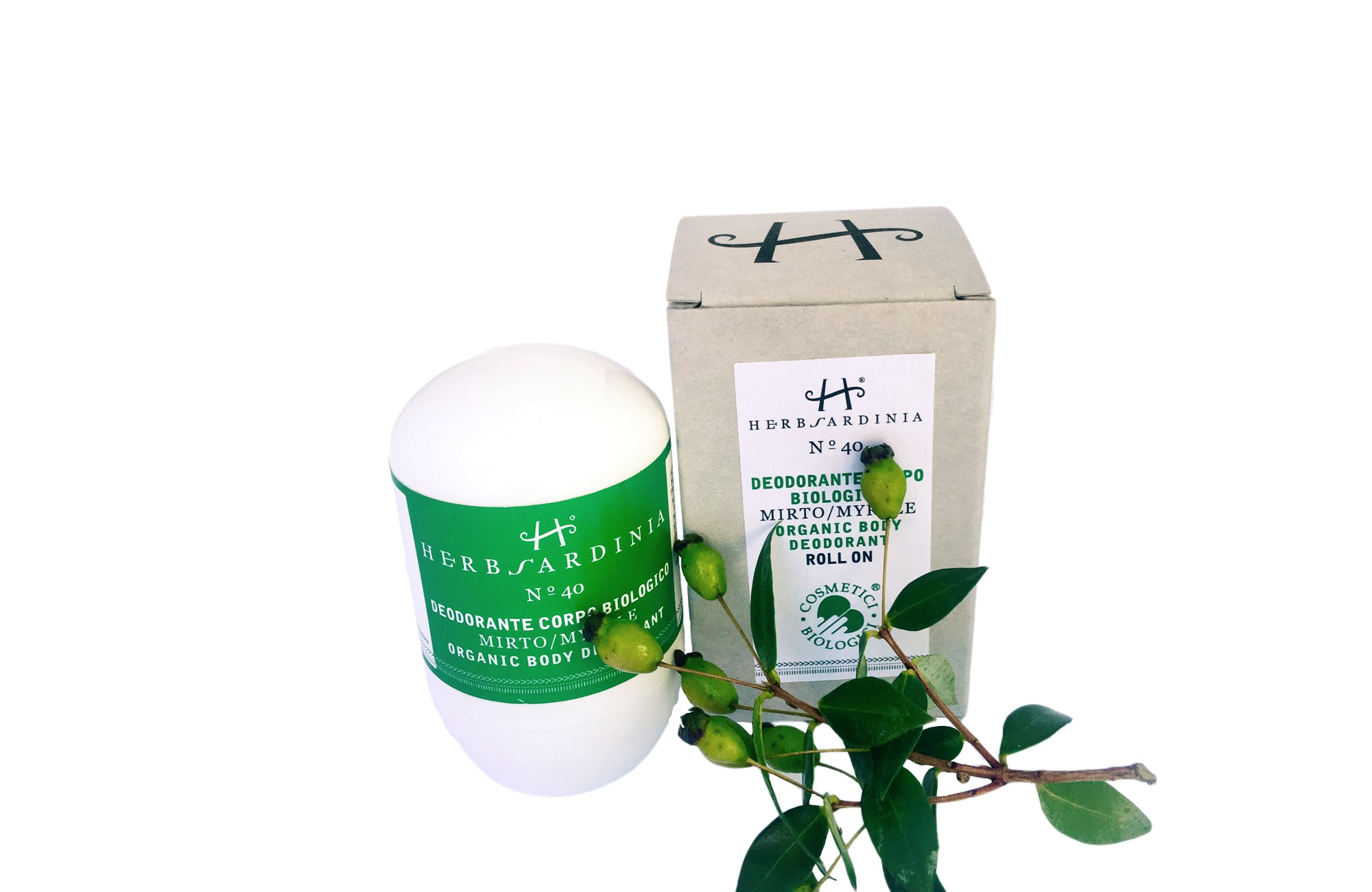N°40 Myrtle Organic Body Deodorant Roll on