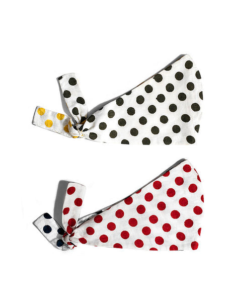 Cotton Polka Knot Mask Reversible