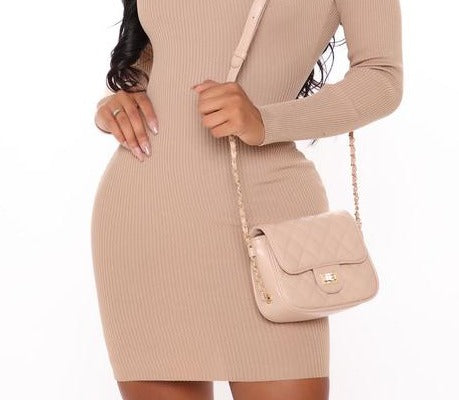 Tres Chic Crossbody Bag - Nude