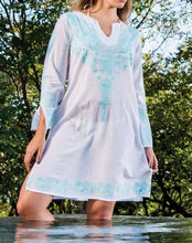 Load image into Gallery viewer, Embroidered Turquoise Tunic