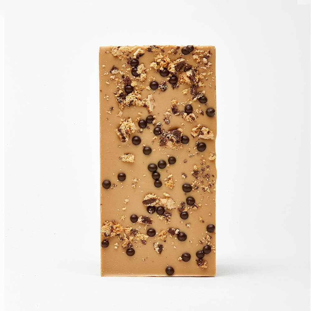 Choc Chip Cookie and Crispy Pearls Caramelised White Chocolate Bar