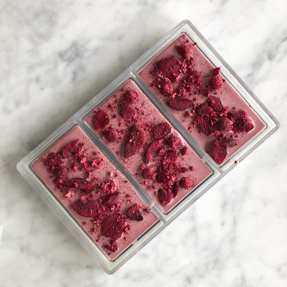 World's 4th Chocolate 'RUBY' Freeze Dried Plum and Raspberry Bar