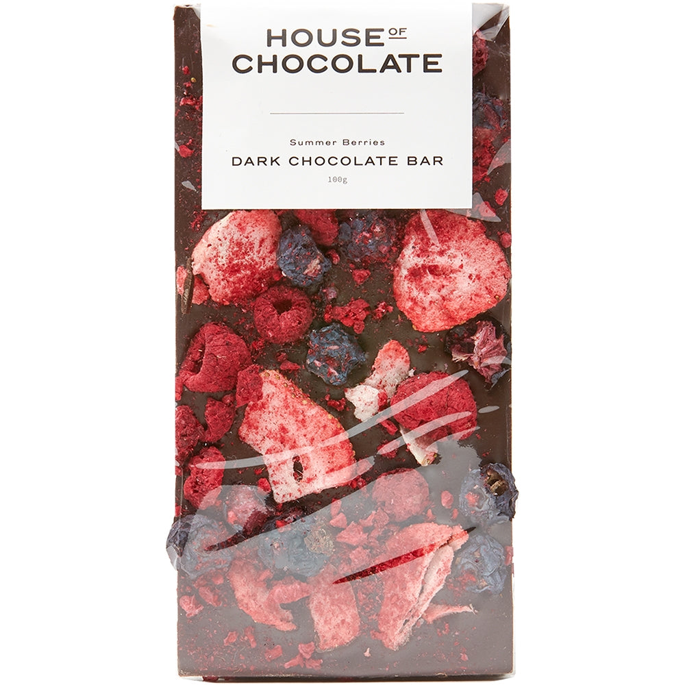 Summer Berries Dark Chocolate Bar