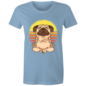 Pug doing yoga (Womens XS - 2XL)