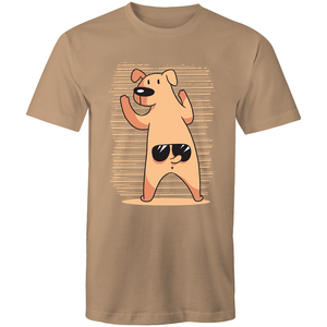 Dog wearing glasses on tail (Mens S - XL)