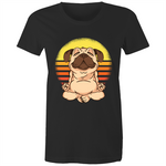 Load image into Gallery viewer, Pug doing yoga (Womens XS - 2XL)