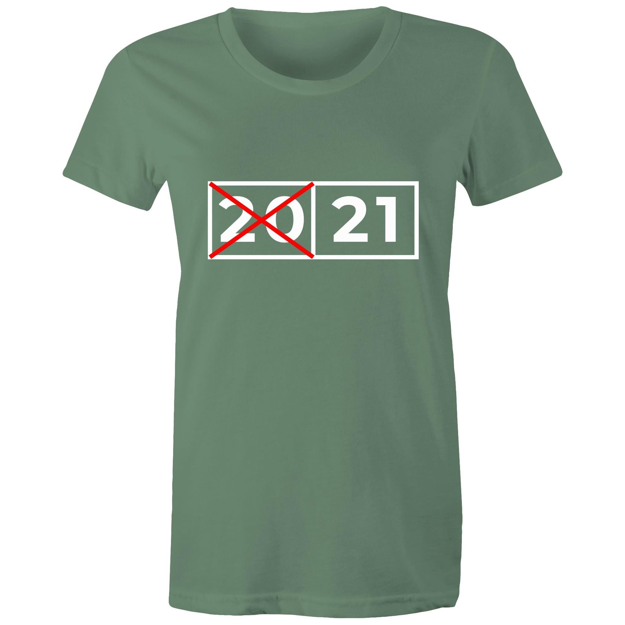2021 with crossed out 20 (Womens XS - 2XL)