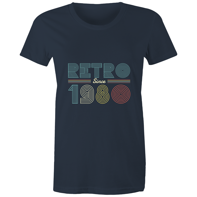 Retro since 1980 birthday (Womens XS - 2XL)