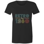 Load image into Gallery viewer, Retro since 1980 birthday (Womens XS - 2XL)