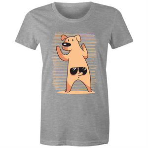Dog wearing glasses on tail (Womens XS - 2XL)