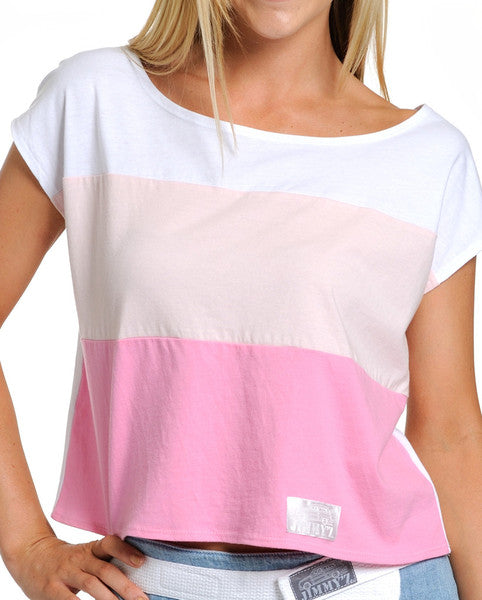 Tri Color Short-Sleeve Box Top