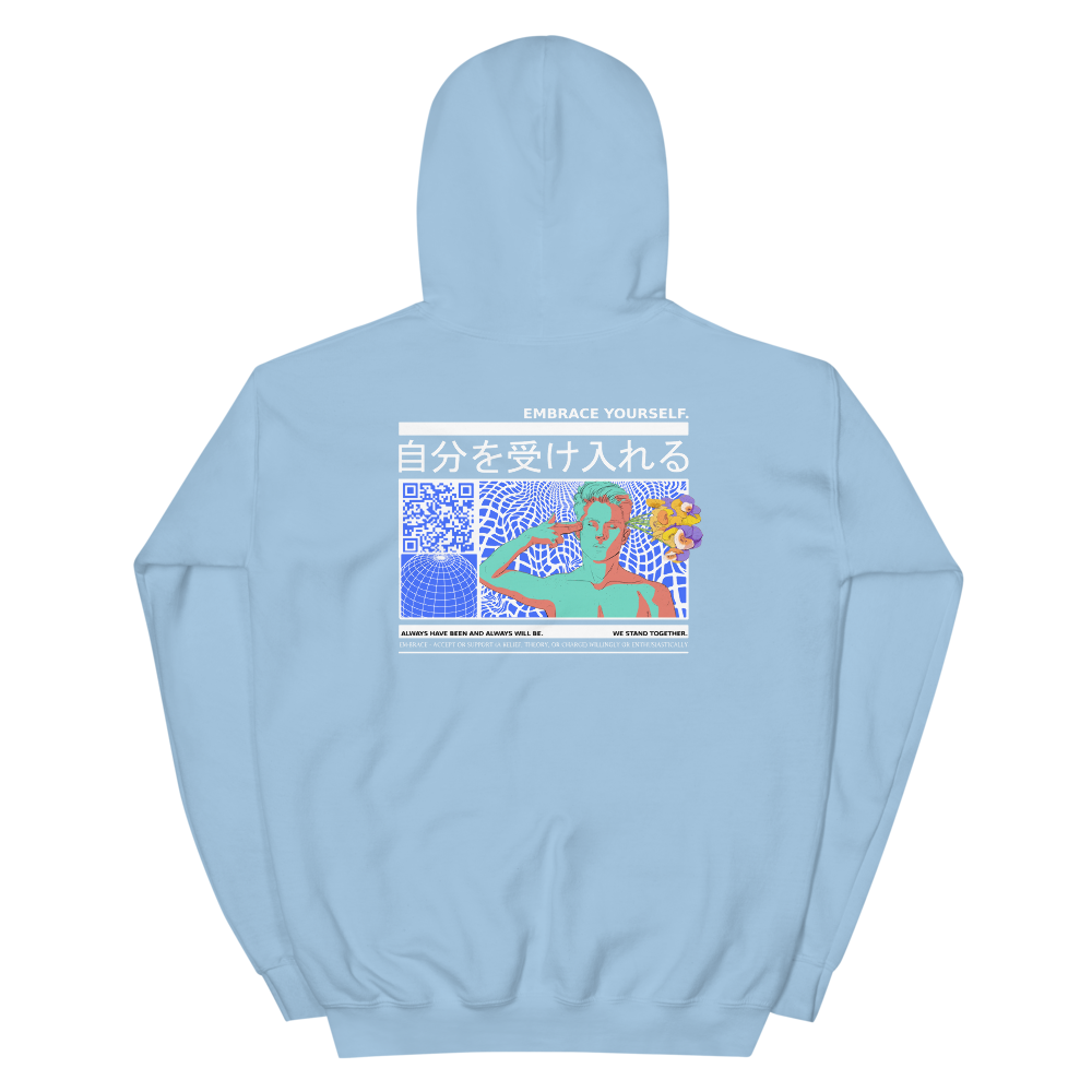 """Embrace Yourself"" Baby Blue Hoodie"