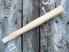 "12"" Octagon Pattern Claw Hammer Handle White American Hickory Item # x7112-2 - Beaver-Tooth Handle Co.  - 1"