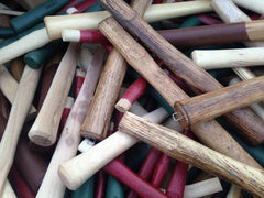 Lot of 24 Wholesale Hammer Handles Assorted Sizes & Types Hickory - Beaver-Tooth Handle Co.
