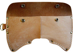 Cruiser Axe Sheath 2.5 lb. Double Bit Leather With D- Ring - Beaver-Tooth Handle Co.  - 1