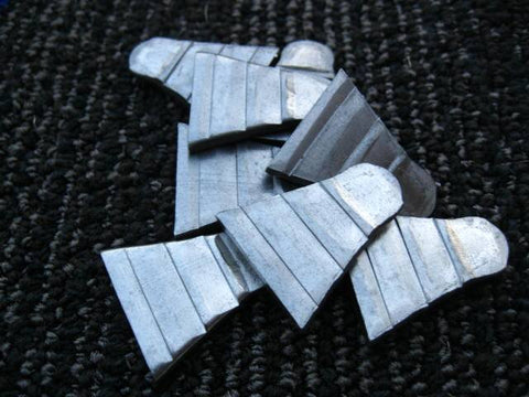 "12 METAL WEDGES FOR HAMMERS & AXES 5/8"" x 1/8"" x 13/16"""