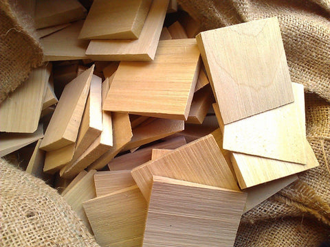 Box of Wood Wedge Culls. Approx 100+ wedges per box.