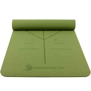Heath yoga Eco Friendly Non Slip Yoga Mat, Body Alignment System