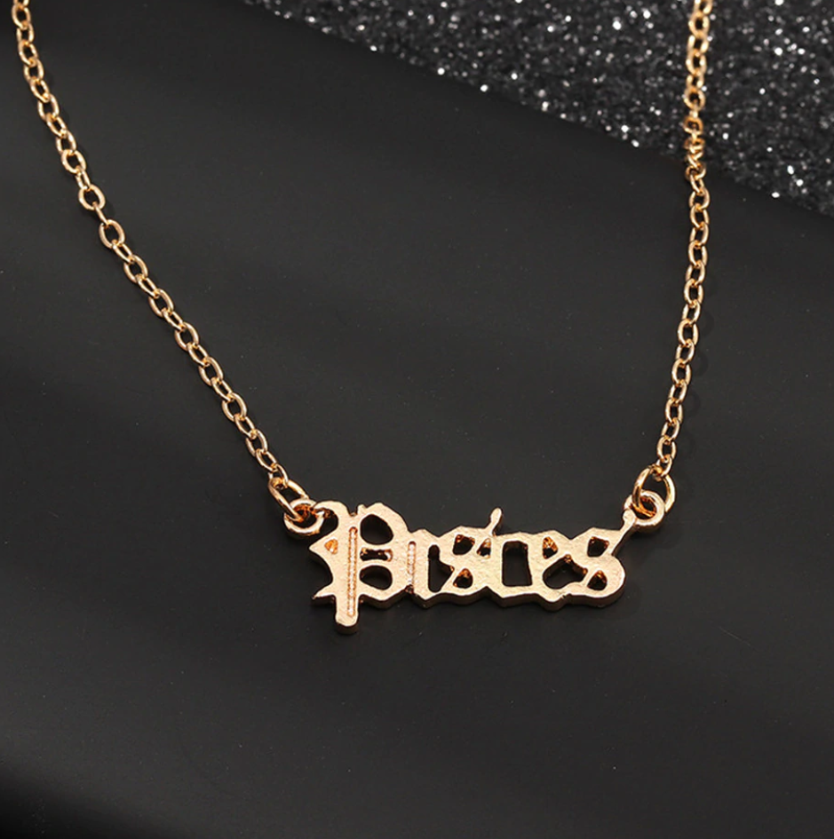Aphrodite Pendant Necklace (12 Zodiac Signs)