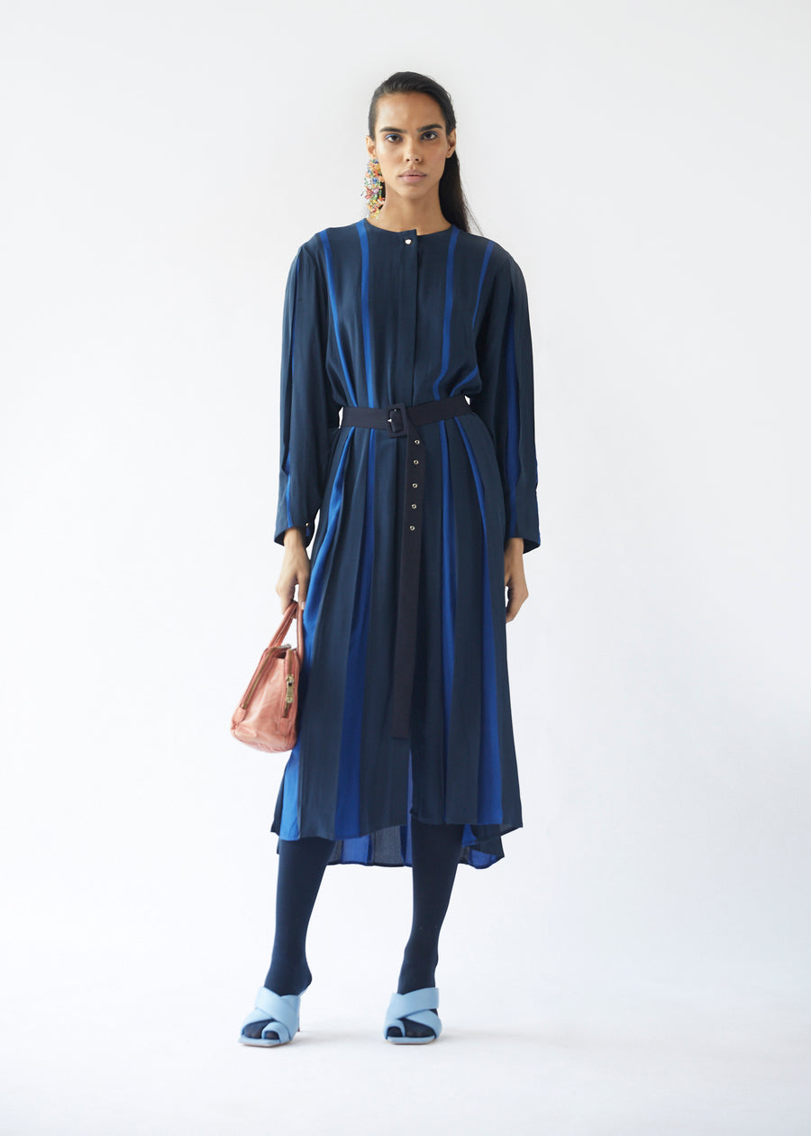 Linear Dress - Blue