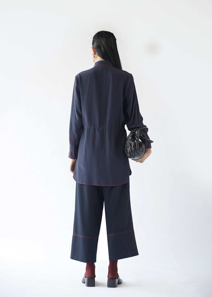 Top Stitch Trousers