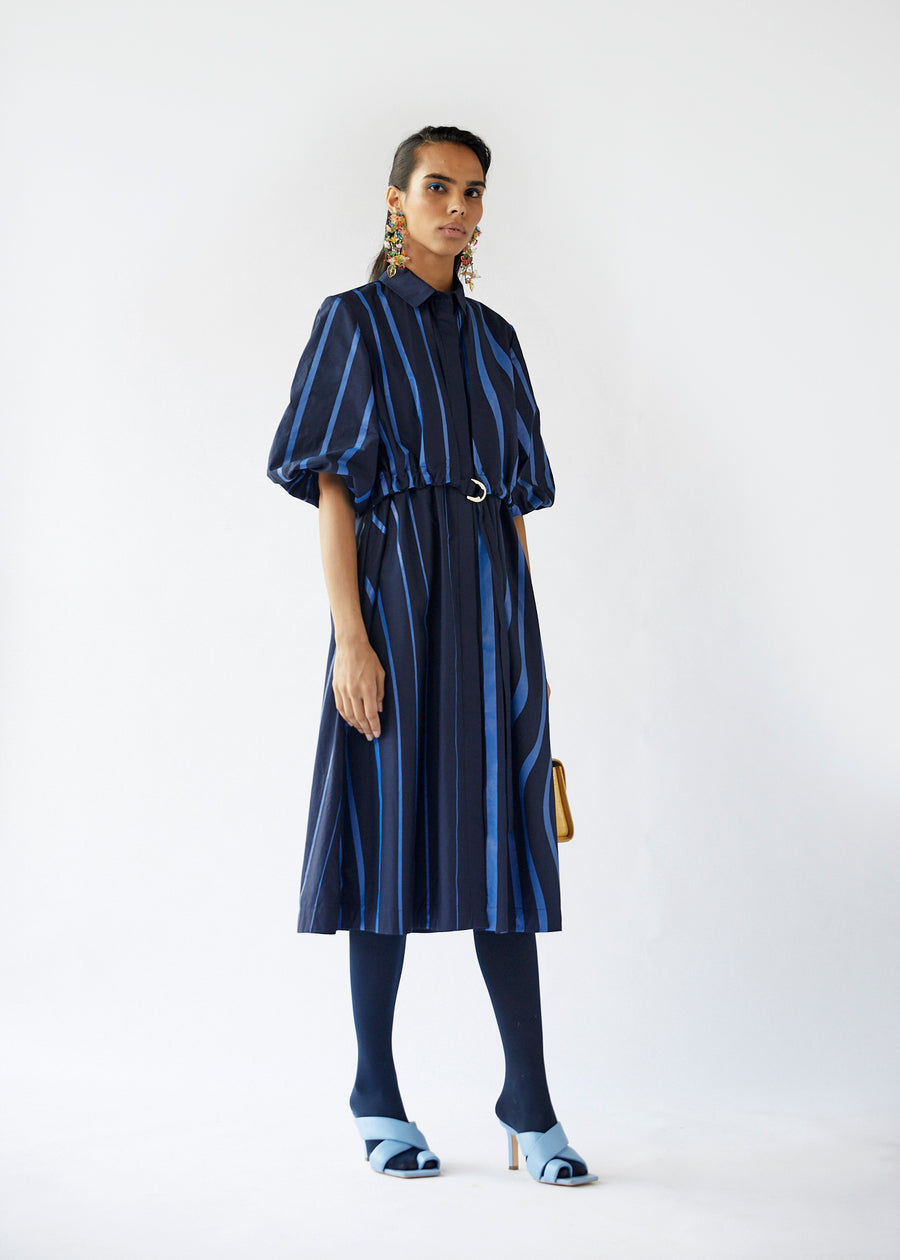 Wave Overlap Dress