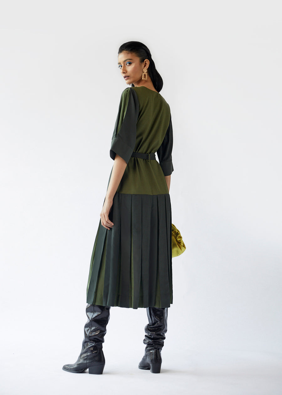 Drop Pleated Dress