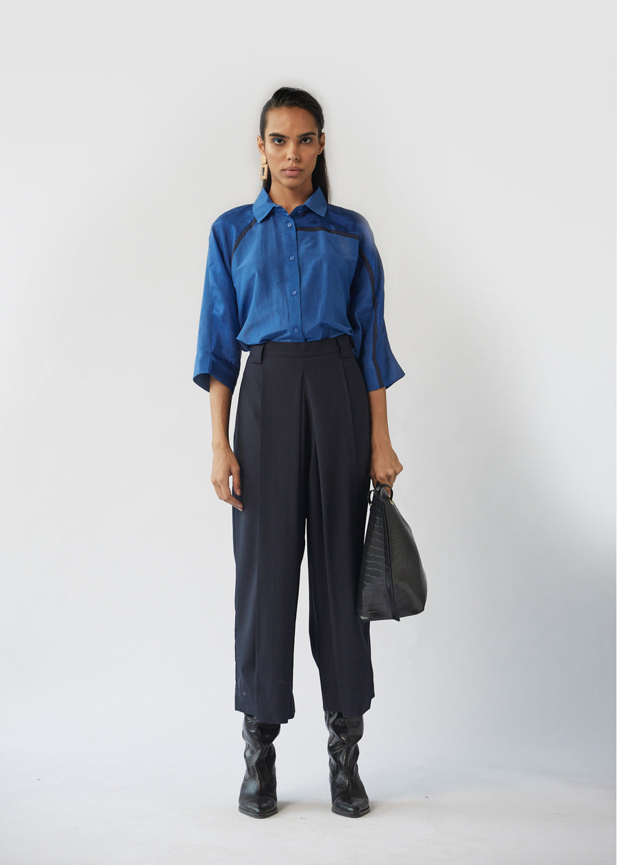 Front Box Pleated Trousers